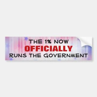 The One Percent Government Bumper Sticker