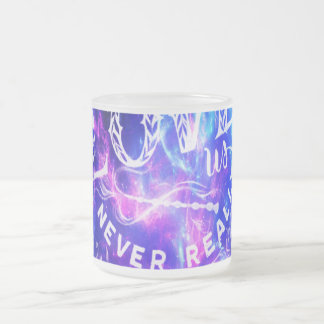 The Ones that Love Us Amethyst Dreams Frosted Glass Coffee Mug