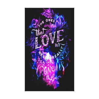 The Ones that Love Us in Amethyst Winter Dreams Canvas Print