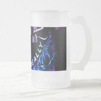 The Ones that Love Us in Amethyst Winter Dreams Frosted Glass Beer Mug