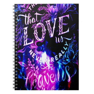 The Ones that Love Us in Amethyst Winter Sky Notebooks