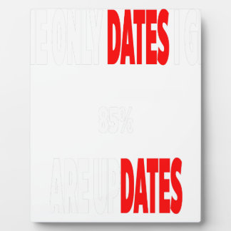 The only dates i get are updates plaque