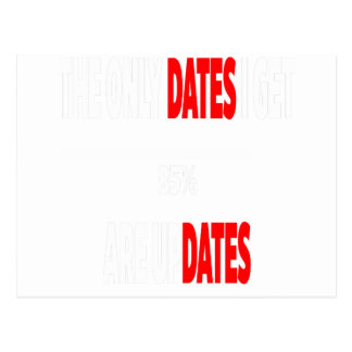 The only dates i get are updates postcard