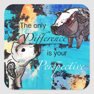 The only difference is your perspective square sticker