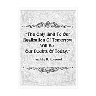 The Only Limit - Positive Quote´s Canvas Print