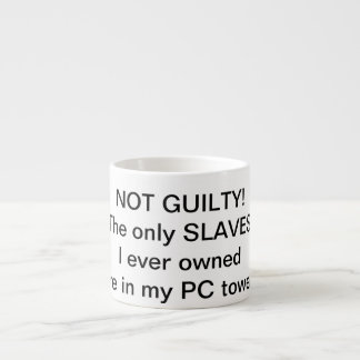 The only SLAVES I ever owned are in my PC tower. Espresso Cup