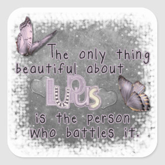the only thing beautiful square sticker