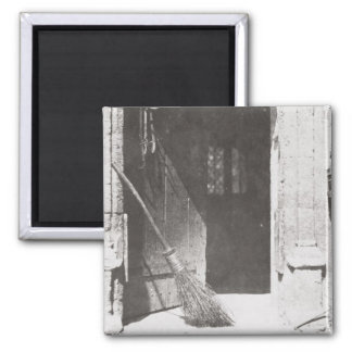 The Open Door, March, 1843 (b/w photo) Square Magnet