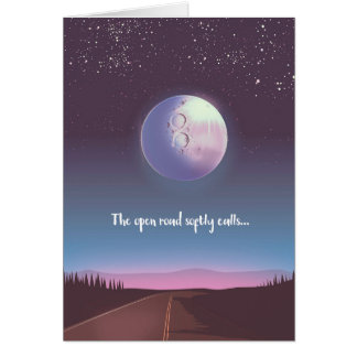 The open road softly calls card
