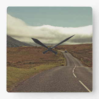 The Open Road Square Wall Clock