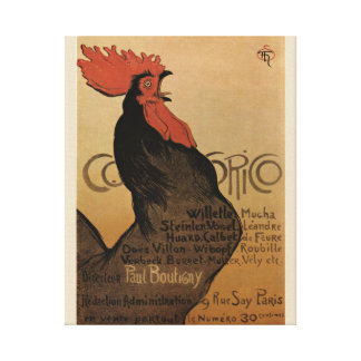 Théophile Alexandre Steinlen 1800s Rooster Poster Canvas Print