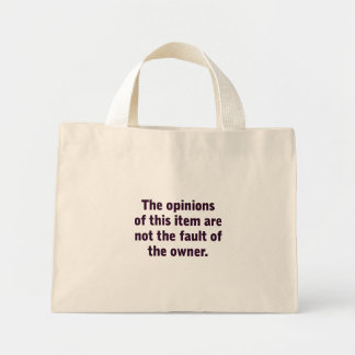 The opinion of this item canvas bag