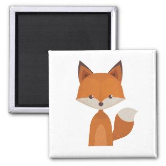 The Orange Fox Magnet