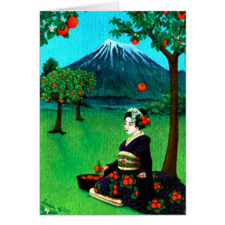 """The Orange Harvest"" Card"