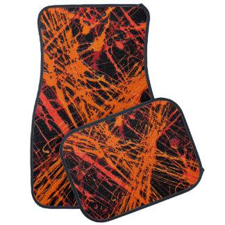 THE ORANGE WEB (an abstract art design) ~ Floor Mat