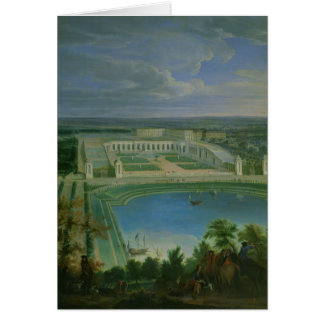 The Orangery and the Chateau at Versailles, 1696 Card