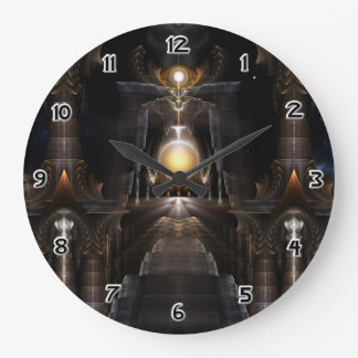 The Orb Of Acrellis Fractal Art Wall Clock