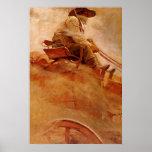 The Ore Wagon by NC Wyeth Print