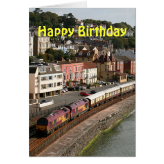 The Orient Express Happy Birthday Card
