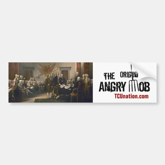 The Original Angry Mob Bumper Sticker