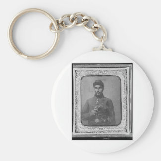 The Original Black American Soldier Key Ring