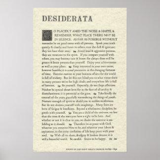 The Original Desiderata Poster by Max Ehrmann