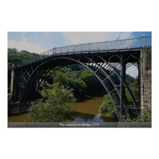 The original Iron Bridge, 1779 Print
