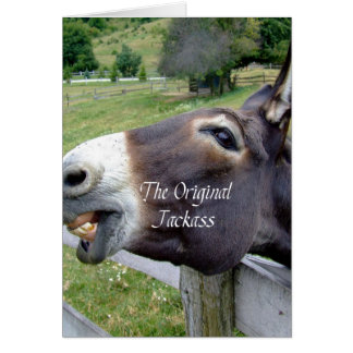 The Original Jackass Funny Donkey Mule Farm Animal Card
