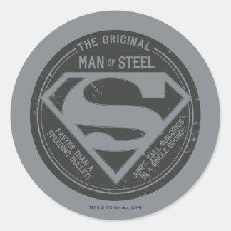 The Original Man of Steel Round Stickers
