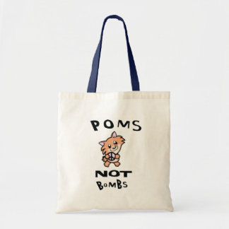 THE Original one and only Poms Not Bombs Tote Bag