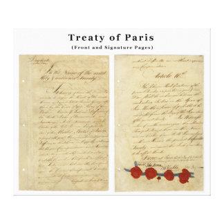 The ORIGINAL Treaty of Paris 1783 Gallery Wrapped Canvas