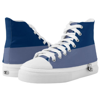 The Original Two Blues Two-Tone Hi-Top Printed Shoes
