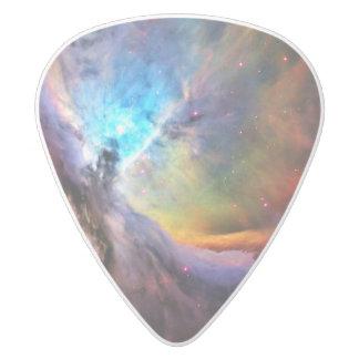 The Orion Nebula White Delrin Guitar Pick