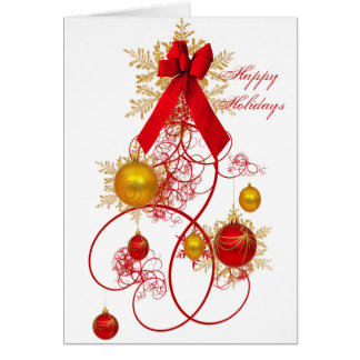 The Ornament Tree Greeting Card