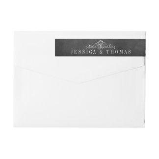 The Ornate Chalkboard Wedding Collection - Labels Wraparound Return Address Label