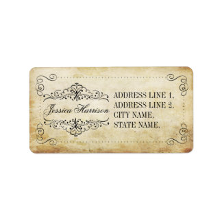 The Ornate Flourish Vintage Wedding Collection Address Label