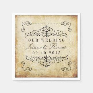 The Ornate Flourish Vintage Wedding Collection Disposable Napkin