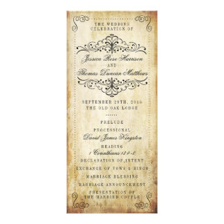 The Ornate Flourish Vintage Wedding Collection Personalised Rack Card