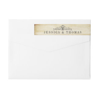 The Ornate Flourish Vintage Wedding Collection Wraparound Return Address Label