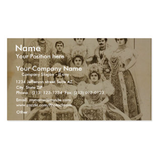 The Orpheuw Show, 'The Newsky Troupe' Vintage Thea Pack Of Standard Business Cards