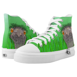 the ostrich in the wild printed shoes