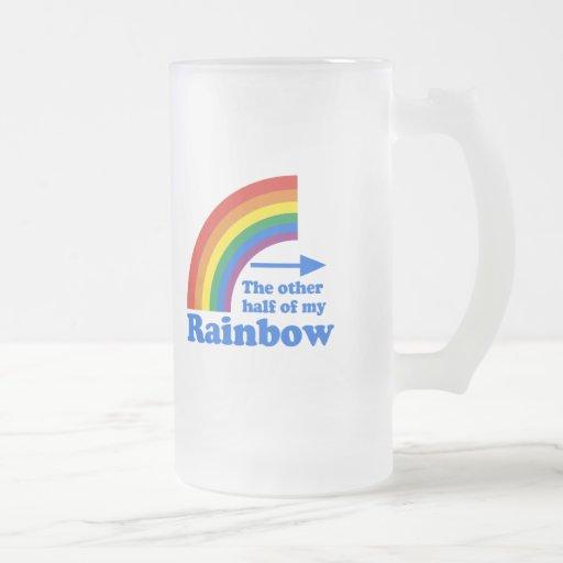 THE OTHER HALF OF MY RAINBOW (Left) Coffee Mugs