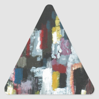 The Other Night abstract expressionism Triangle Sticker