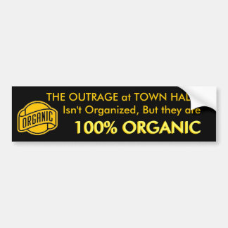 THE OUTRAGE at TOWN HALLS Bumper Sticker