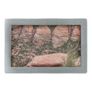 The Ovens Rock Formation Western Landscape Rectangular Belt Buckles