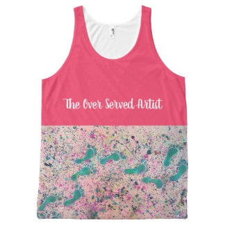 The Over Served Artist Abstract Footsteps All-Over Print Singlet