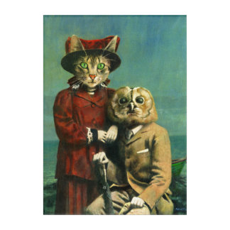 The Owl And The Pussy Cat Acrylic Wall Art