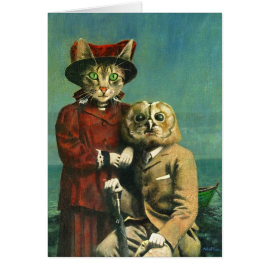 The Owl And The Pussy Cat Greetings Card