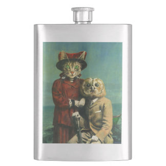 The Owl And The Pussy Cat Premium Flask