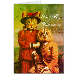 The Owl And The Pussy Cat Valentine's Card